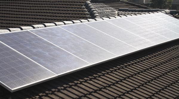 2.5kW east facing solar panels.