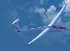 Photo of a glider, one of Preston's passions.