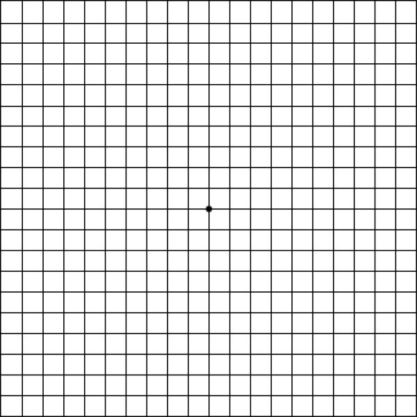 Amsler grid for detection of macular degeneration.