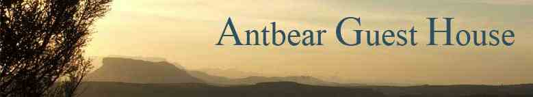 Antbear guest house is located in the mountains near the very same garden path.