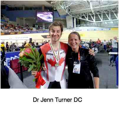 Jenn Turner treats many top athletes with chiropractic.