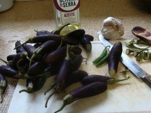 Baby eggplant.