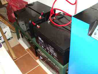 Battery bank 8 x 200Ah.
