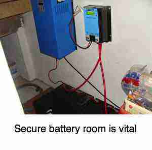 Battery room secure