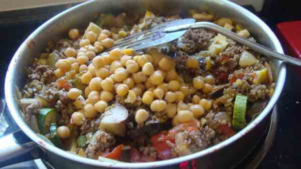 Bobotie recipes can be made with chickpeas.