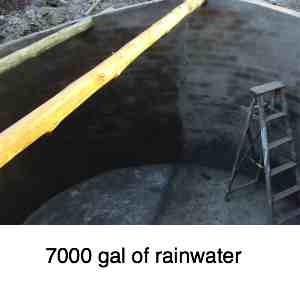 Building a reservoir to store rainwater
