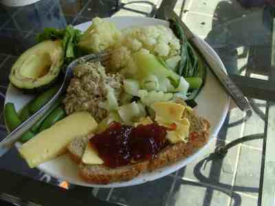 Cauliflower salad lunch plate.