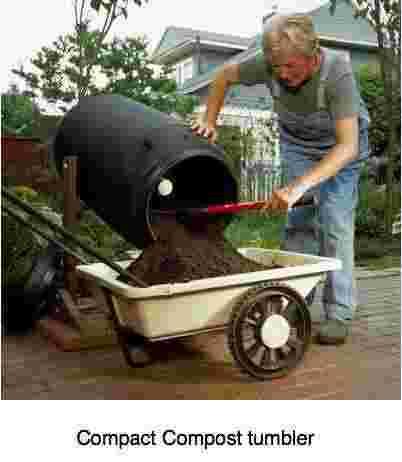 Compact compost tumbler.