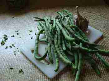 Top and tail your green beans before cooking.