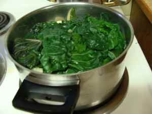 Creamed spinach recipe starts with steaming