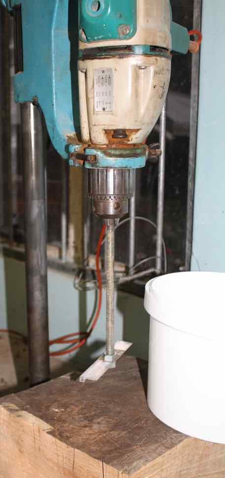 Creaming honey needs a drill press