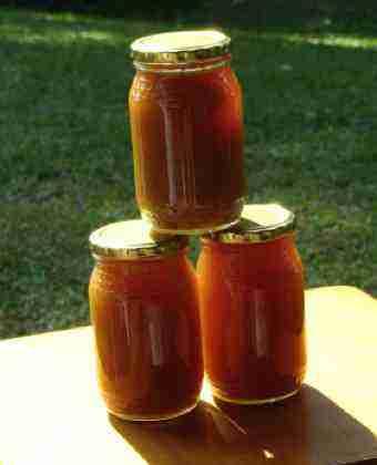 Crystallised honey at the end of week 4.