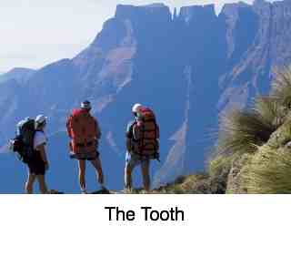 The Tooth in the Drakensberg mountains.