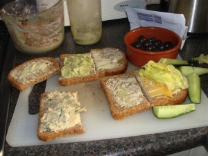 Easy lunch recipes on low GI bread.