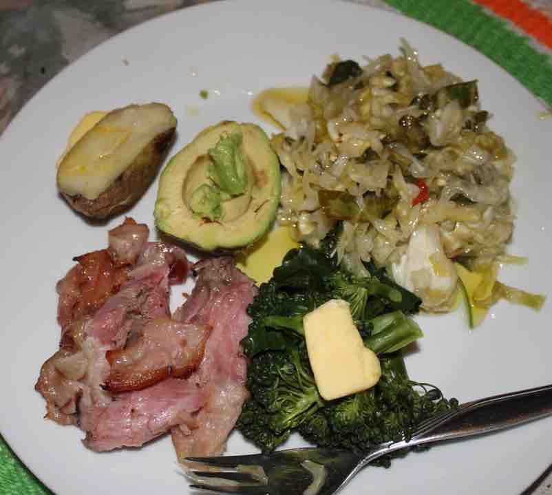 Eisbein and sauerkraut supper.