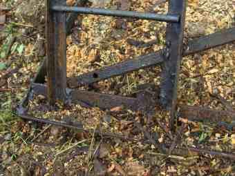 Firewood rack struts make it strong