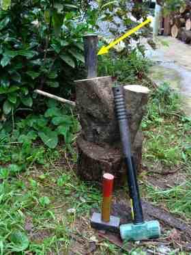 Firewood splitter chisel.