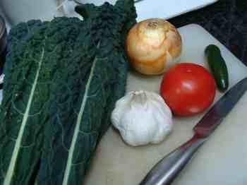 fried kale ingredients