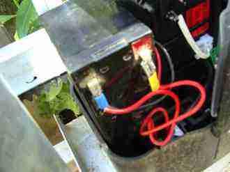 Gate motor battery