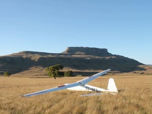 Gliding Harrismith outlanding