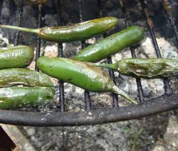 Green chillies BBQ