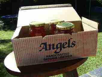 Liquifying honey in a cardboard box.