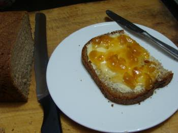 This low GI bread and butter with gooseberry jam is a delight.