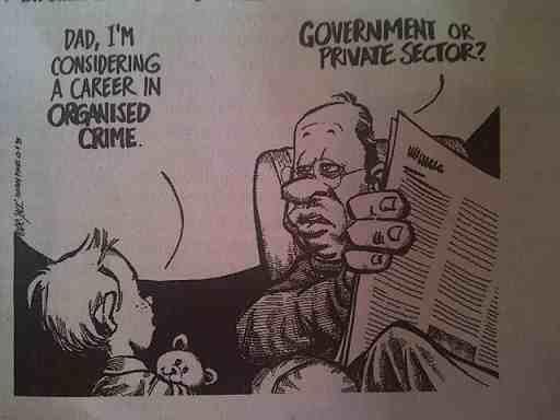 Organised crime.