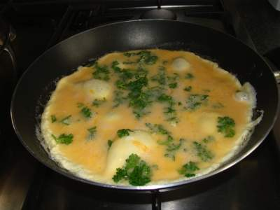 Parsley benefits with eggs