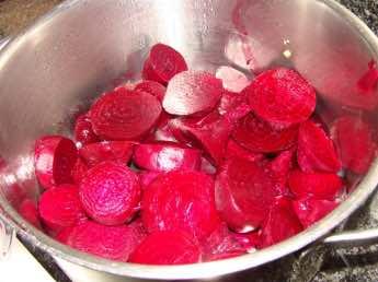 Pickled beets sliced