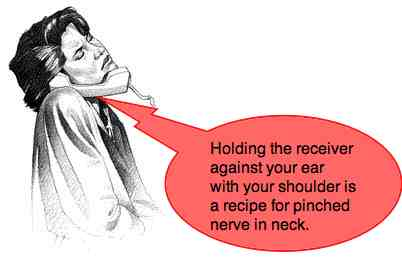 Pinched nerve in neck caused by telephone