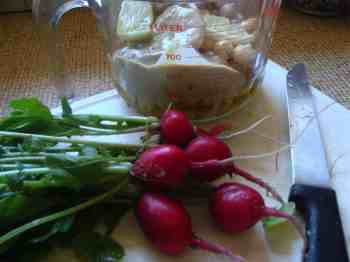 Radish health in hummus