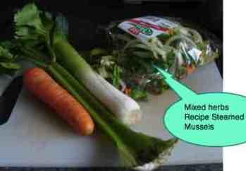Recipe steamed mussels