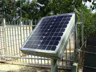 Residential solar panel 10W for the gate motor.