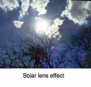 Solar lens effect advertises the potential benefits offered by Mr Golden Sun.
