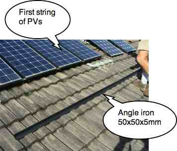 solar panel angle iron