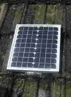 Solar panel for the pump
