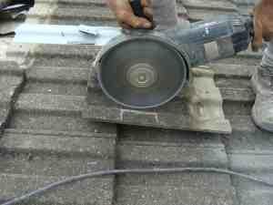 solar panel tile angle grinder