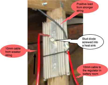 Solar stud diode