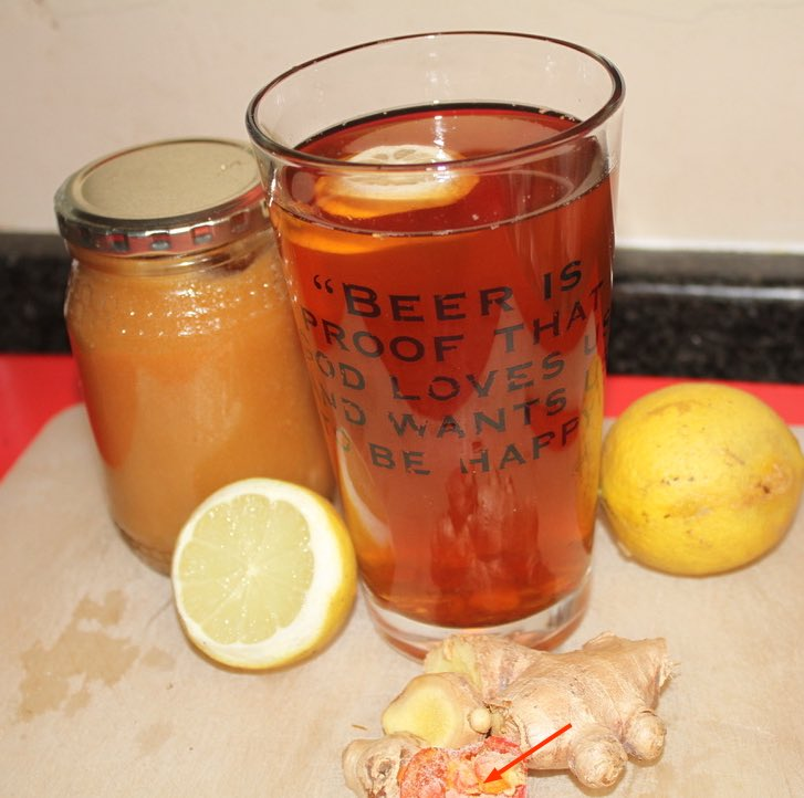 Spicy ginger tea recipe