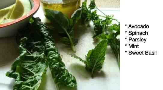 Spinach and avocado dip