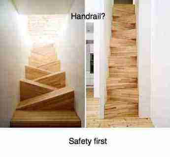 A dodgy staircase is where many cases of leg pain begin in the Netherlands.