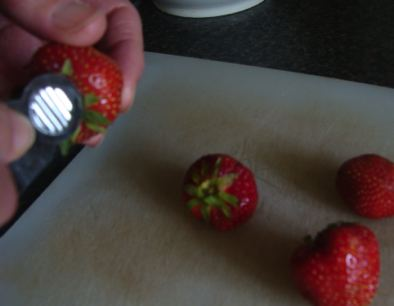 Strawberry stalk remover