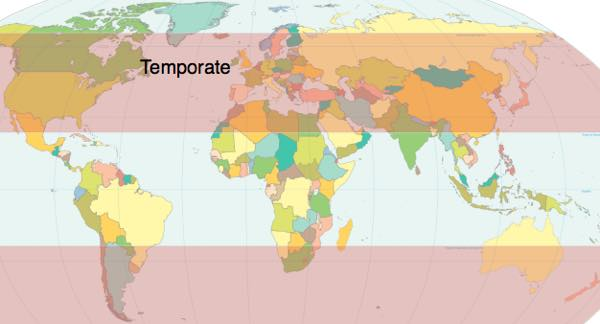 Temporate climates and vitamin D
