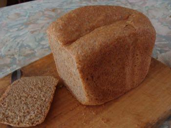 Vegan seed loaf on breadboard