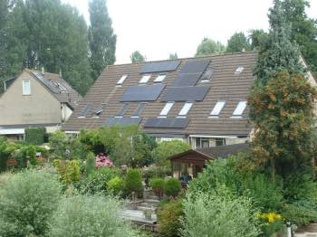 West facing PV panels in Holland