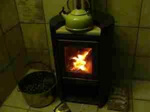 A typical modern wood stove.