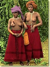 Xhosa women in traditional dress in South Africa.