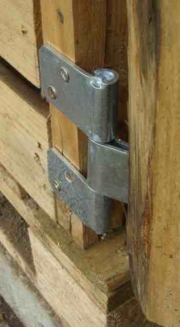 Chicken coop door hinge