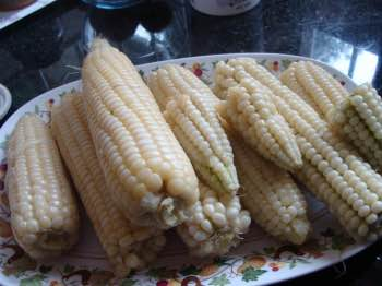 Corn on the cob is perfect for grilled mealies.
